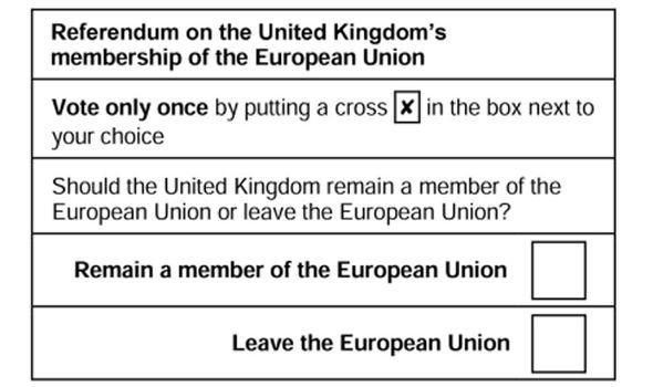 EUref ballot